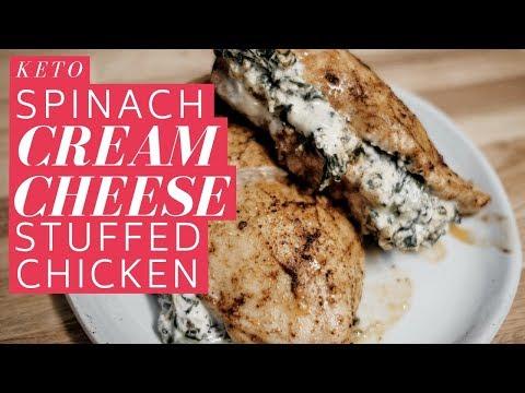 Keto Spinach Cream Cheese Stuffed Chicken
