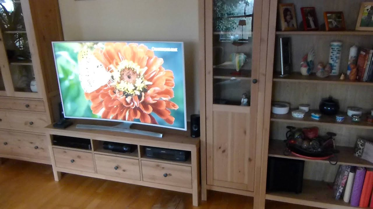 Ikea Hemnes Wohnzimmer Schrankwand - YouTube
