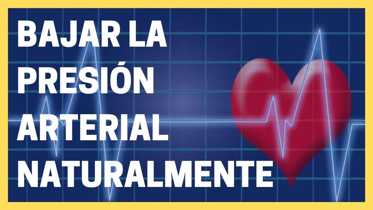¿Cómo puede bajar la presión arterial naturalmente?