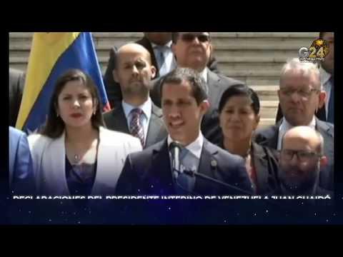 G24 #BACHELET #GUAIDÓ DE QUÉ HABLARON #REUNIÓN #VENEZUELA DECLARACIONES