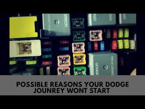 Dodge journey will not start, no run /Possible reason why no run