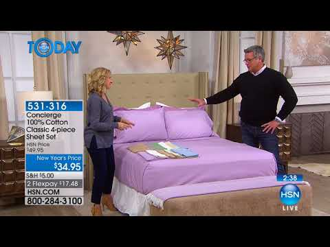 HSN | HSN Today: Concierge Collection Bedding 01.24.2018 - 07 AM