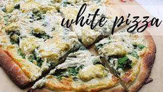 PIZZA BIANCA WITH SPINACH | PLANTIFULLY BASED