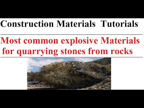 Most Common Explosive Materials For Quarrying Stones From Rocks || Construction Materials