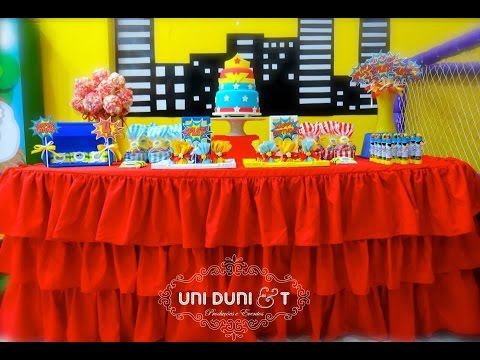 Wonder Woman birthday party - Little Wish Parties Childrens Party Blog
