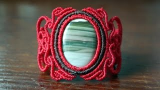 How to Add Another Color Around Your Gemstone - Macrame Tutorial