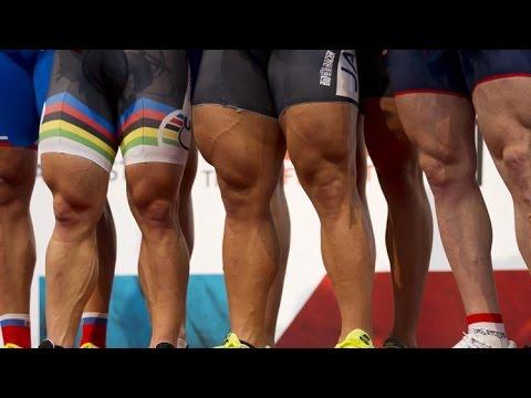 leg muscle gains  running vs cycling  youtube