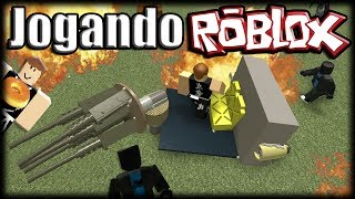Playing Roblox-Metalworks Sandbox-building machines with rubbish!