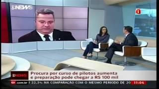 Curso de Piloto Privado I Piloto Comercial Wings Escola de Aviação Civil - Matéria Globo News