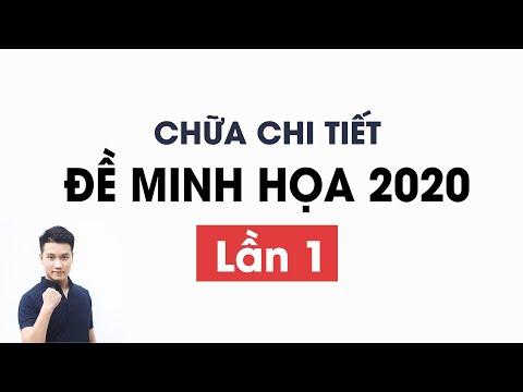 Chữa FULL ĐỀ MINH HỌA 2020 _Môn Toán_Thầy Nguyễn Quốc Chí
