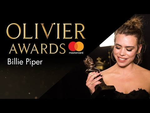 Billie Piper - Best Actress - Olivier Awards 2017 with Mastercard