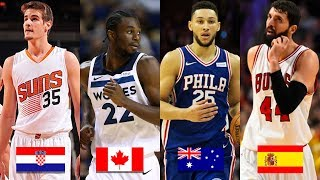 9 Most Represented Countries in the NBA - 2017-18 Season