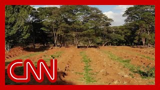 Drone footage captures mass graves dug in Brazil