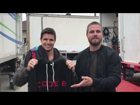 Stephen Amell And Robbie Amell Code 8  Socks. We have SOCKS!! Code8.com
