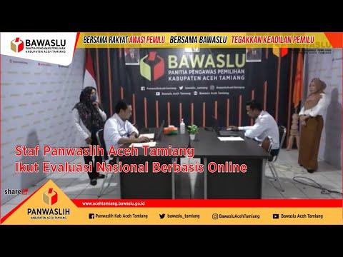 Staf Panwaslih Aceh Tamiang Ikut Evaluasi Nasional Berbasis Online