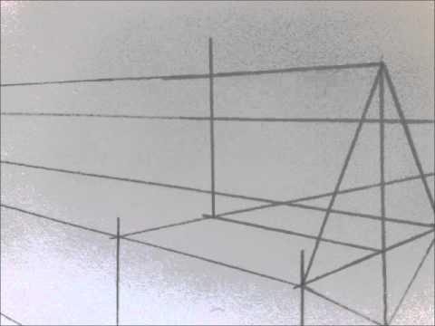 Stap voor stap perspectief tekenen een huis youtube for 3d woning tekenen