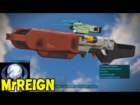 FALLOUT 4 - VIRGIL'S RIFLE  - Unique Weapon & Full Mod Showcase
