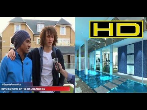 Willian, do Chelsea, mostra casa LUXO em Londres com vizinho David Luiz Esporte Fantástico04/03/17
