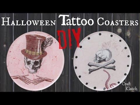 diy-halloween-tattoo-coasters-|-another-coaster-friday-|-craft-klatch