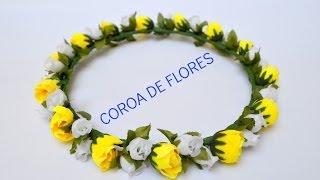 Tutorial: Como fazer coroas de flores :3