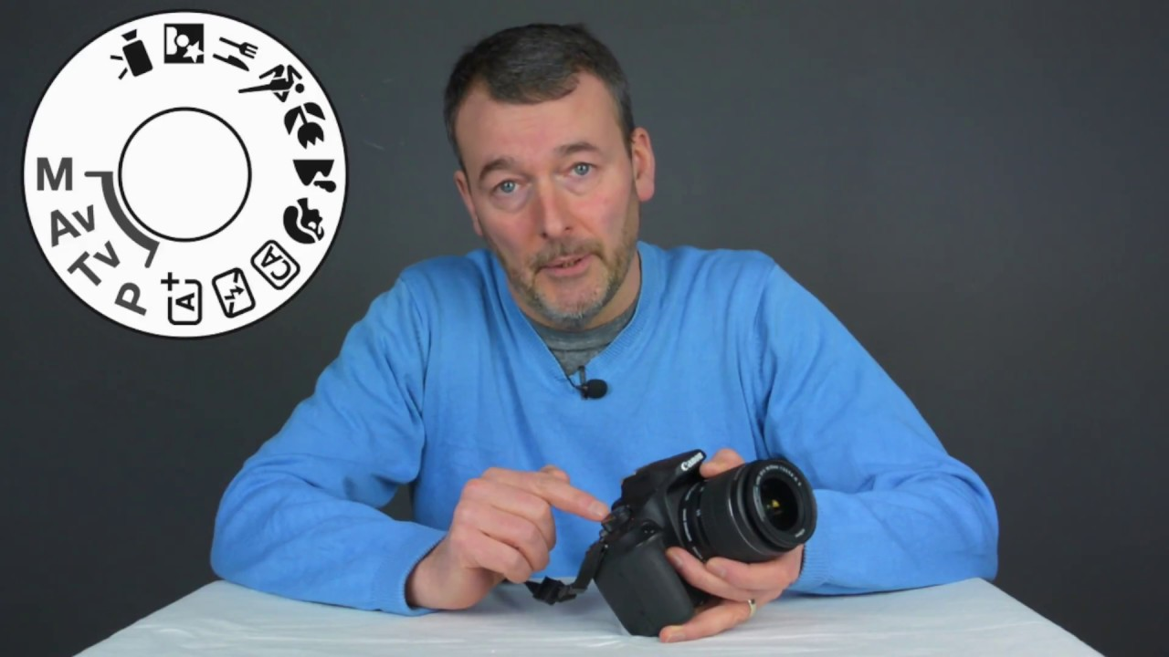 The Mode Dial on the Canon 1300D Rebel T6 DSLR | setting the Mode Dial on  the Canon #1300D