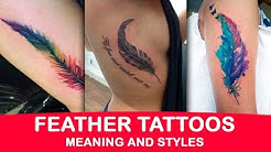 Feather Tattoos Styles and Meaning