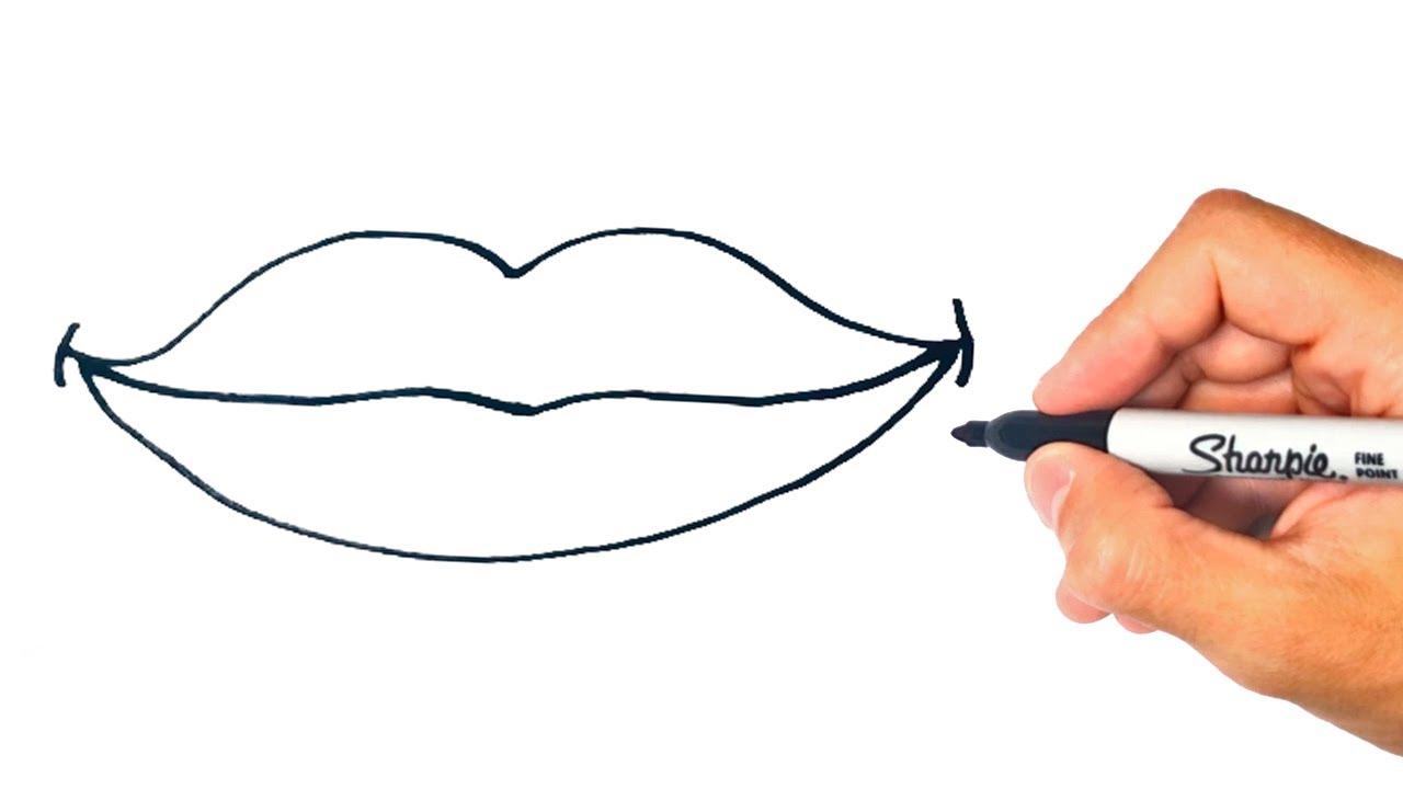 Cómo dibujar unos Labios Paso a Paso y fácil