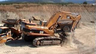 caterpillar 365b lme d6r xl 735 road construction leutenbach germany 29 07 2004
