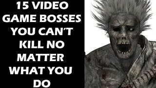 15 Video Game Bosses You Can't Defeat No Matter What You Do