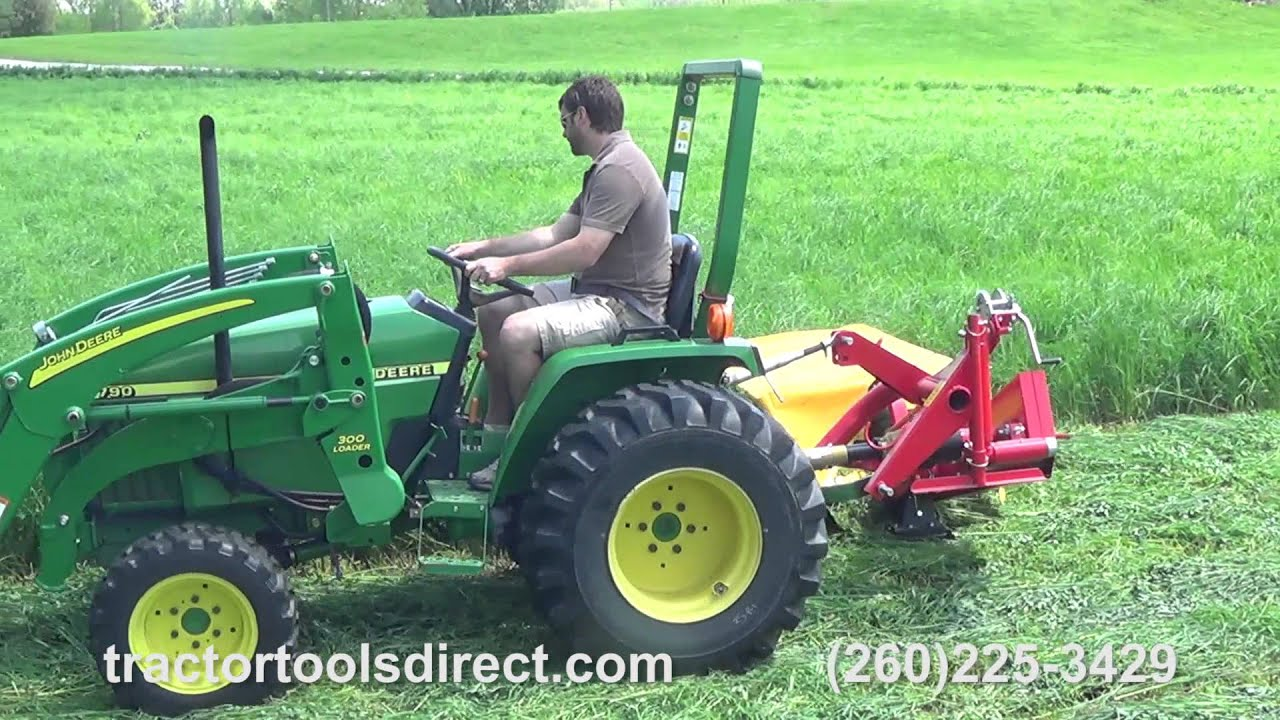 Tractor Tools Direct - Galfre 165 Manual Lift Disc Mower Demonstration Video