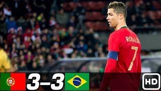 Португалия Бразилия 3 3 Обзор Контрольных Матчей 06 02 2007 10 09 2013 HD