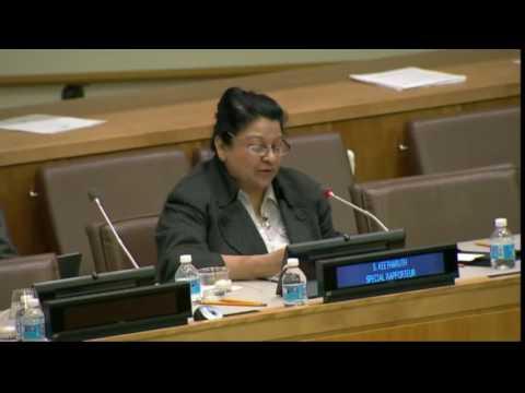 Sheila B. Keetharuth (UN Special Rapporteur) (28 October 2016)