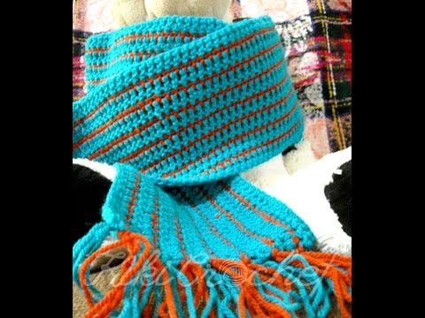 Crochet Easy Mens Scarf Youtube
