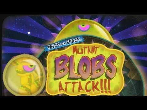 Хищная СЛИЗЬ нападает на ЛЮДЕЙ Спасайся кто может Мультик игра Tales From Space Mutant Blobs Attack