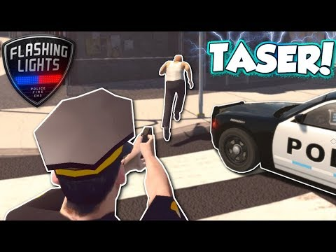 FOOT CHASE WITH TASER! - Flashing Lights Multiplayer Gameplay - Police Simulator
