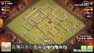 Clash of clans TH12 VS TH12 3 STAR ATTACK.