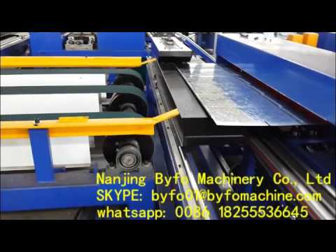 Nanjing Byfo Brand air duct making machine autofolded PLC tube production line IV