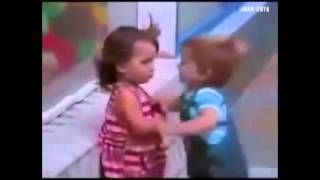 Cute Baby Boy Looking for Friendship with Baby Girl and tries to Kiss