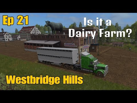 Let's Play Farming Simulator 17 PS4: Westbridge Hills, Ep 21 (Is it a Dairy Farm?)