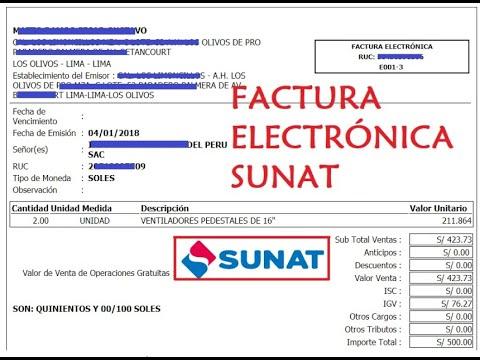 cómo emitir una factura electrónica 2018 sunat actualizado youtube