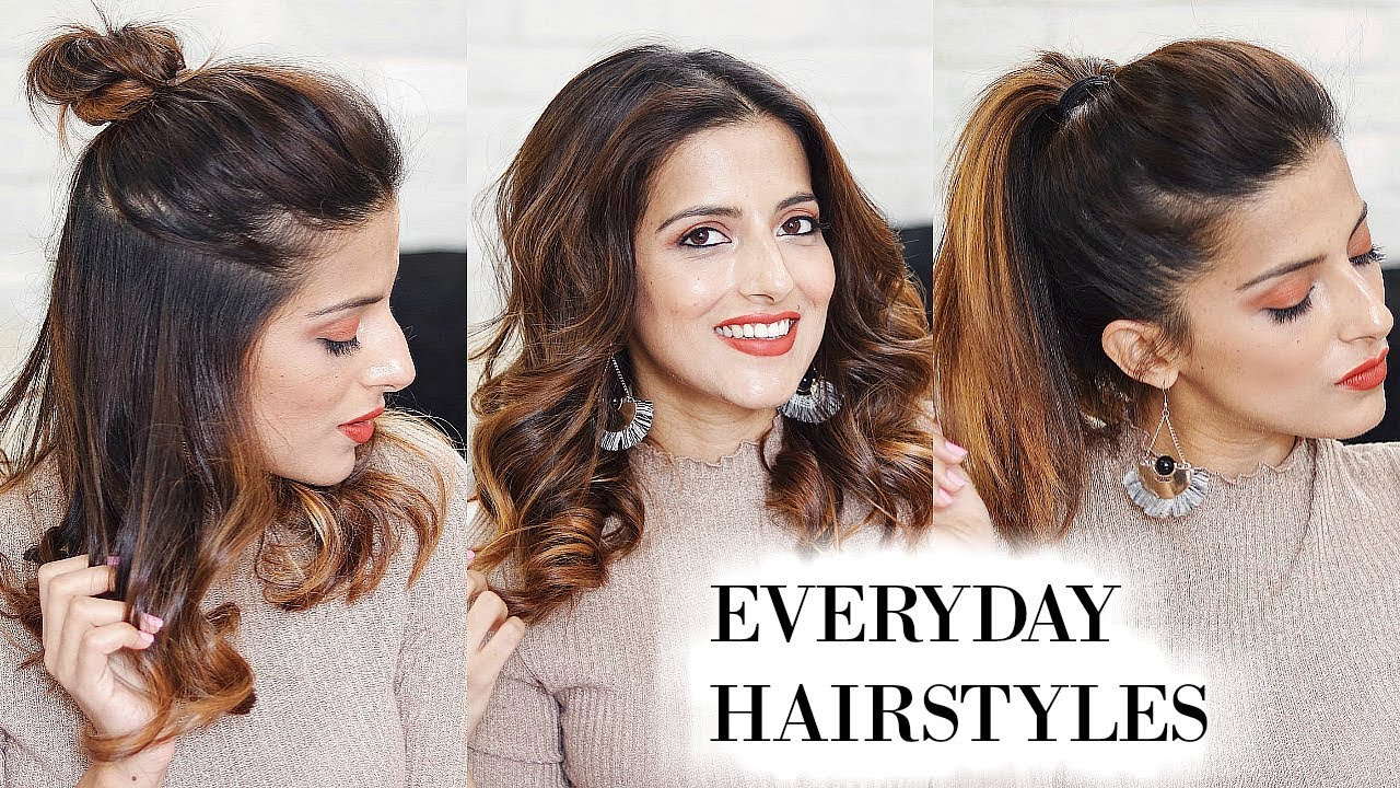 3 everyday hairstyles