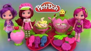 Pâte à modeler Charlotte aux fraises Service à thé Play Doh Strawberry Shortcake Frutillita