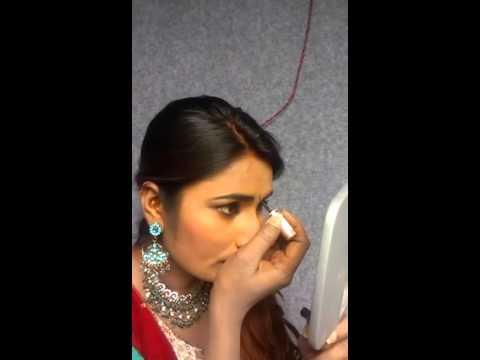 Swathi Naidu in makeup room