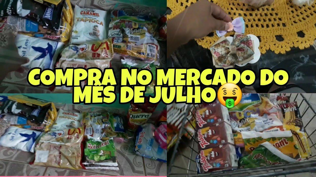 #rumo40k #compras COMPRAS NO MERCADO DO MÊS DE JULHO 🤑|mae solo