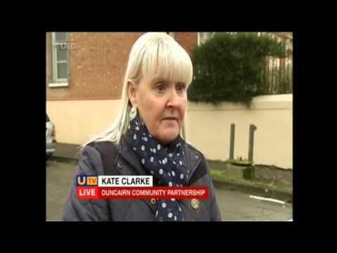 UTV Live 26-11-2014 - Removal of security barrier at Newington Street