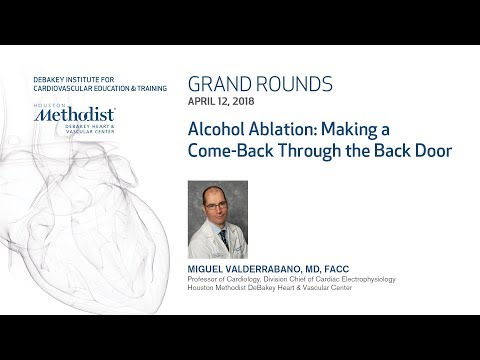 Alcohol Ablation: Making a Come-Back Through the Back Door (MIGUEL VALDERRABANO, MD) April 12, 2018
