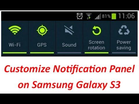 Samsung Galaxy S3 Notification Bar Customization Youtube