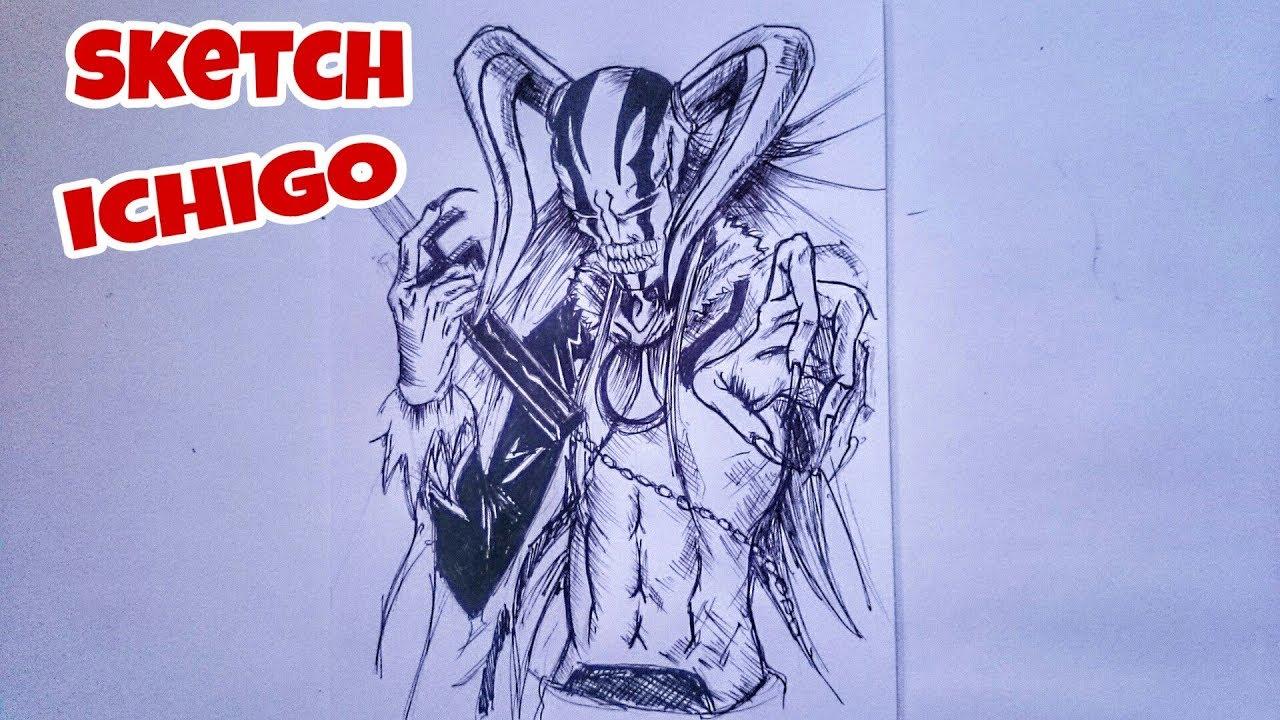Sketch Anime Bleach Ichigo Drawing Anime Menggambar Anime Youtube Membuat Sketsa Cara Menggambar Drawing