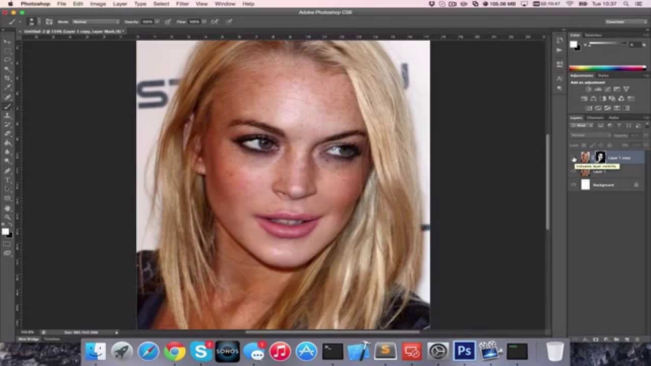 how to clean face in photoshop cs6