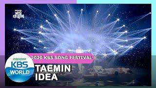 Download TAEMIN - IDEA  2020 KBS Song Festival  201218 Siaran KBS WORLD TV 